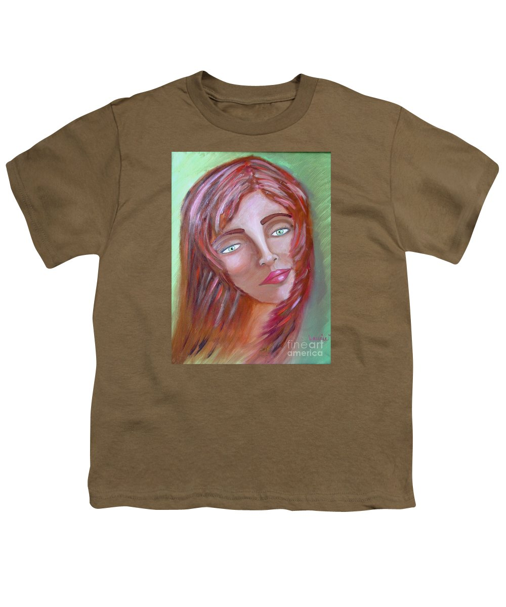 Redheads Youth T-Shirt featuring the painting The Redhead by Laurie Morgan