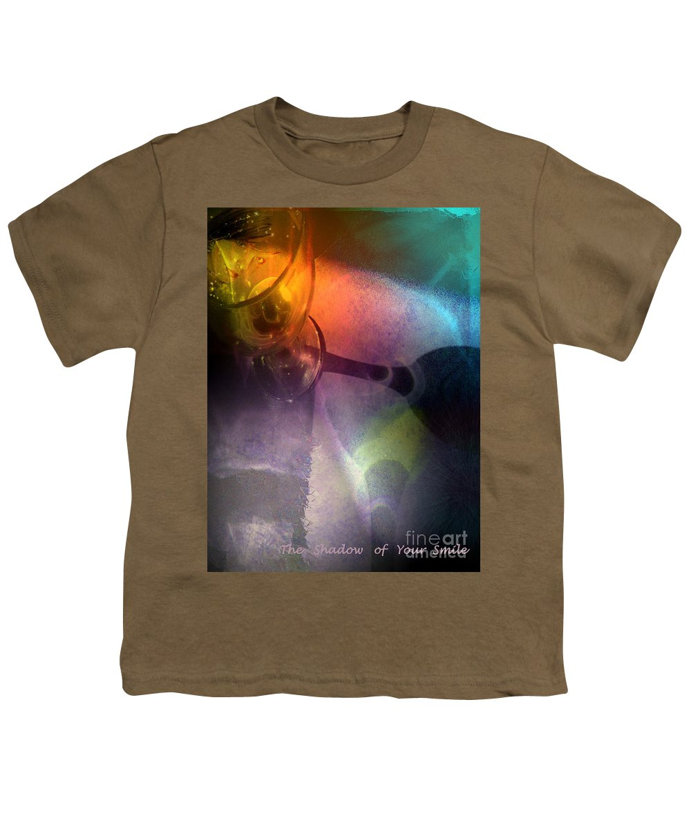 Fantasy Youth T-Shirt featuring the painting The Shadow Of Your Smile by Miki De Goodaboom