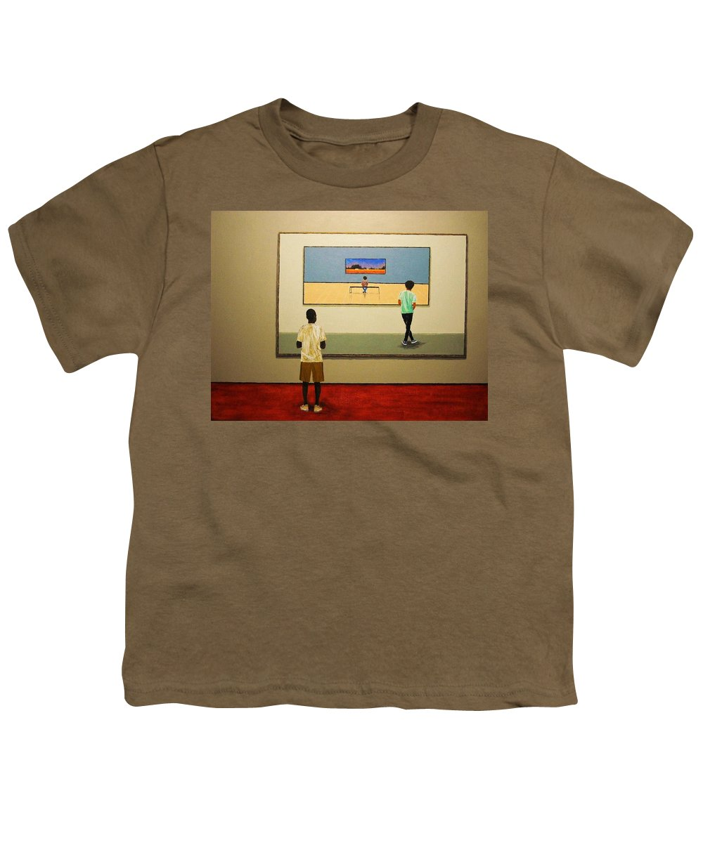 Painting Youth T-Shirt featuring the painting The View Within by Edith Peterson-Watson