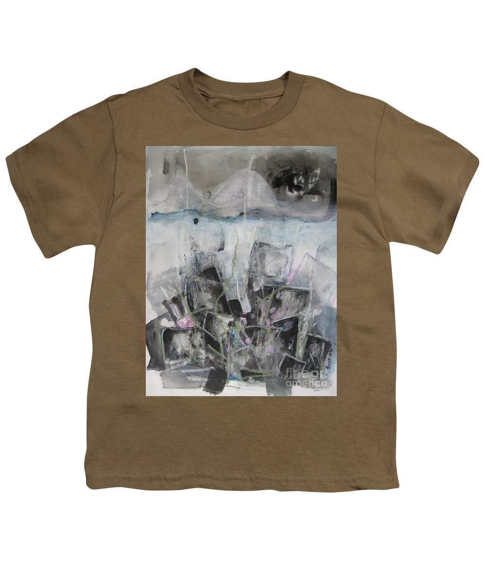 Cemetery Youth T-Shirt featuring the painting Three Arms by Seon-Jeong Kim
