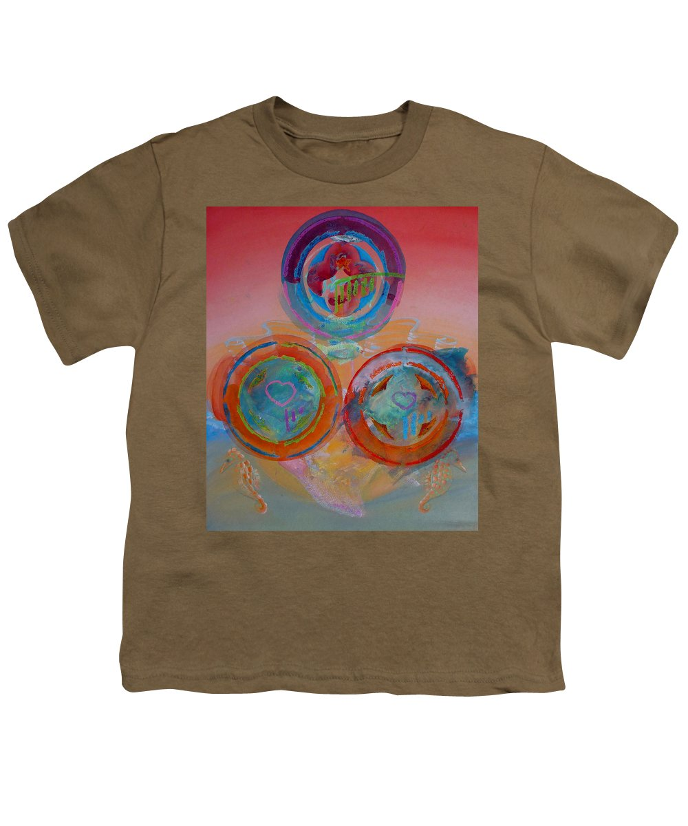 Logo Youth T-Shirt featuring the painting Three On Marine by Charles Stuart