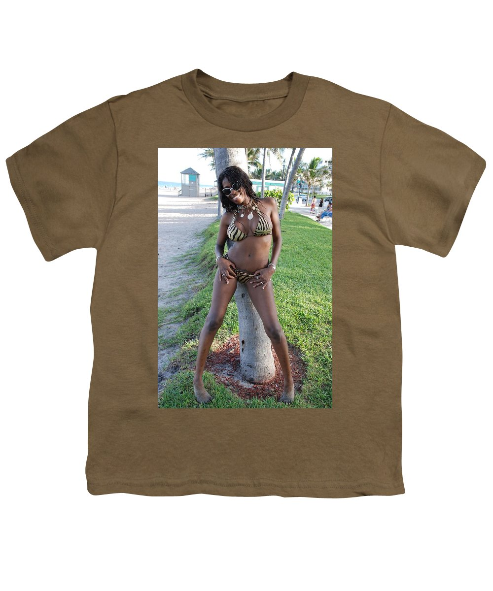 Sand Youth T-Shirt featuring the photograph Tiger Strips by Rob Hans
