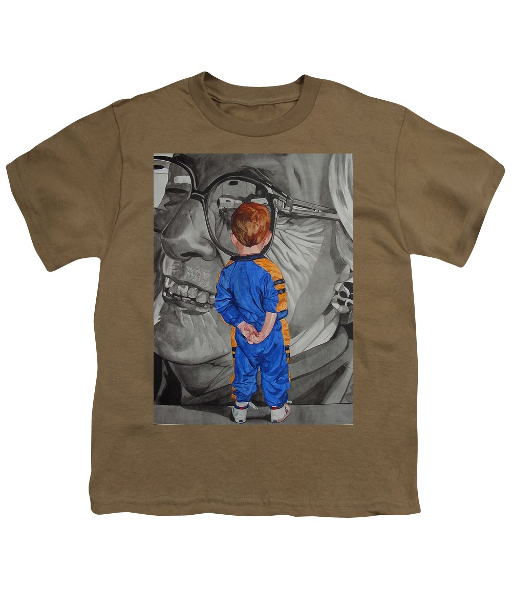 Children Youth T-Shirt featuring the painting Timeless Contemplation by Valerie Patterson