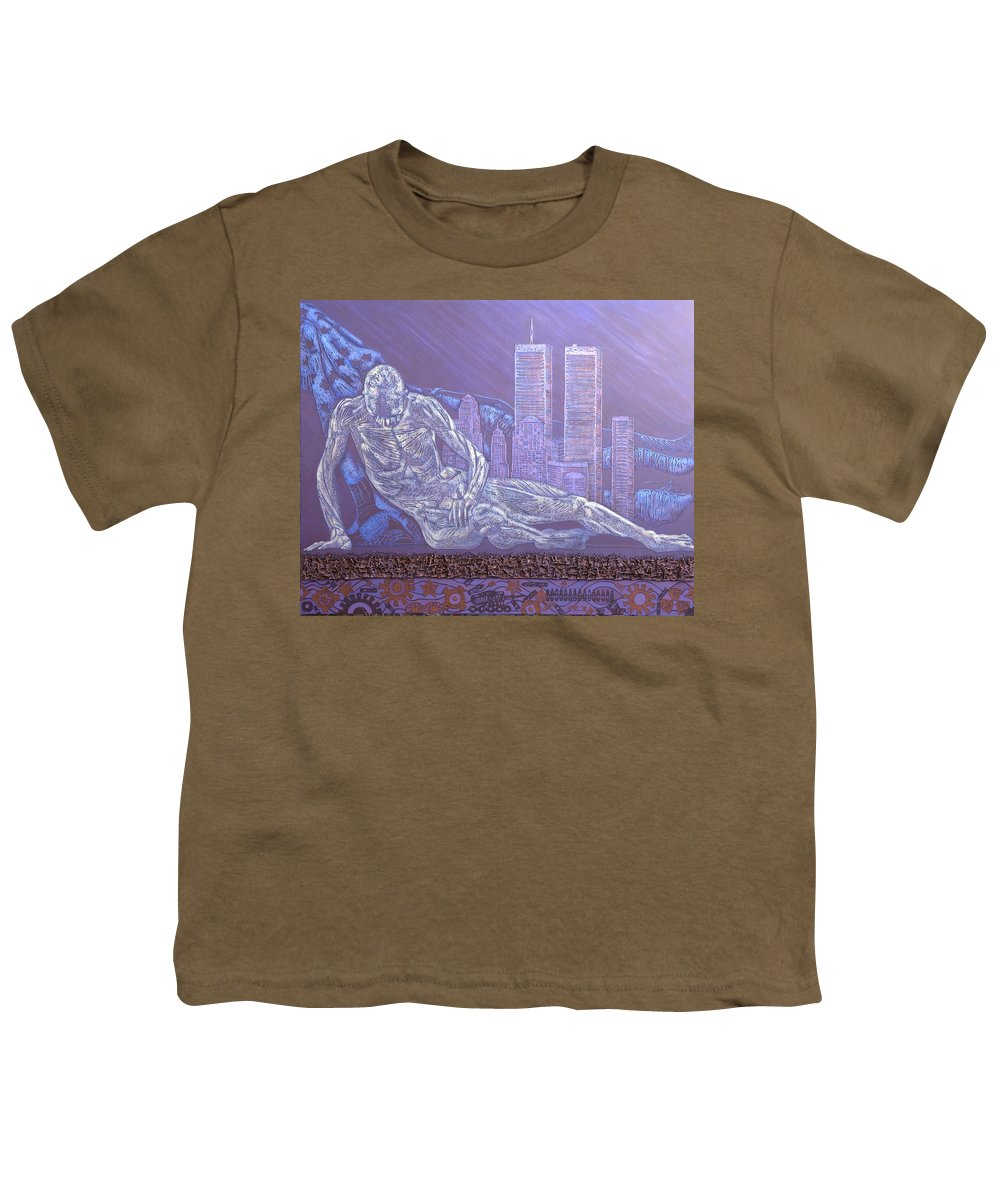 War Youth T-Shirt featuring the painting Toy Soldiers by Judy Henninger