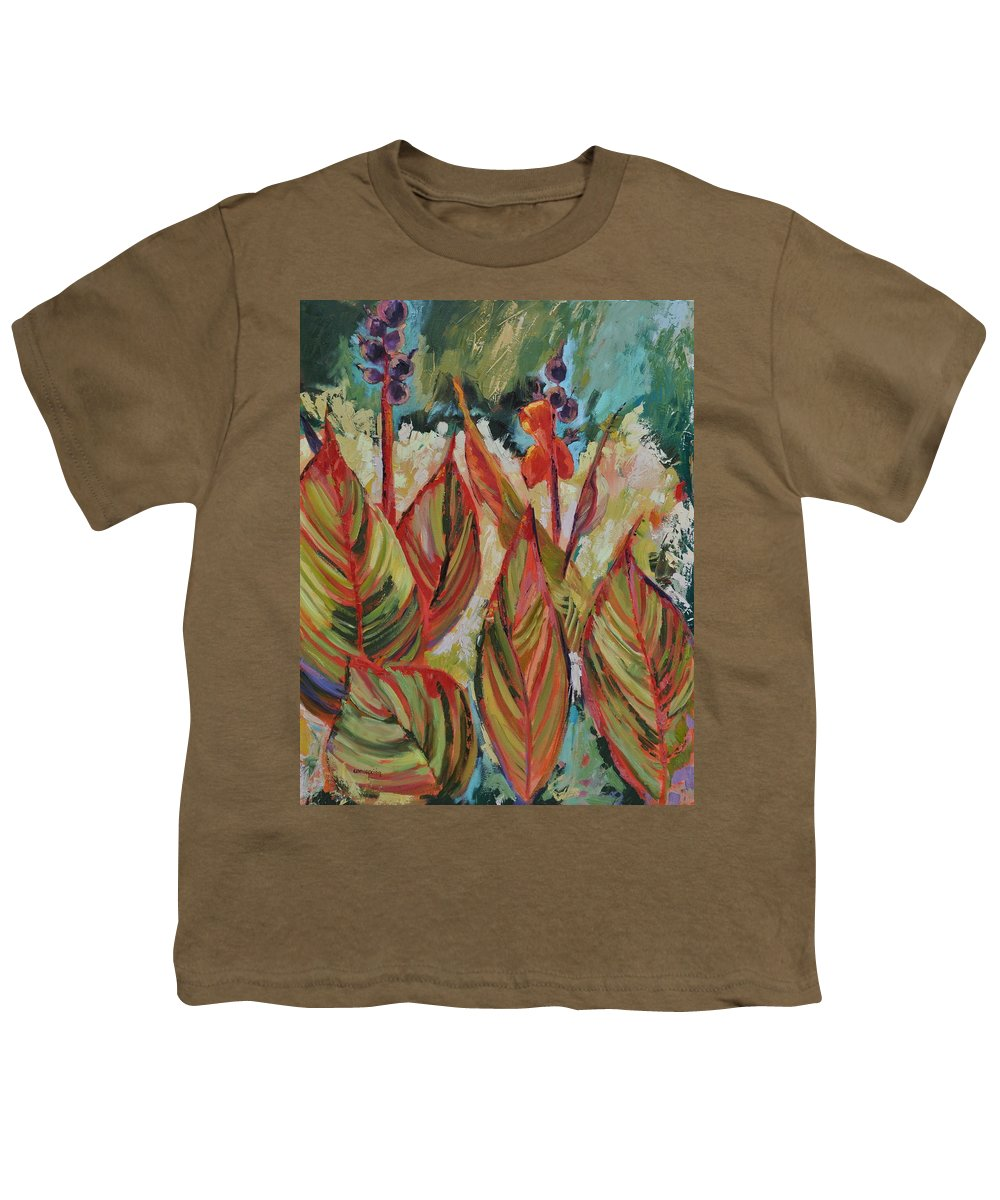 Tropicana Youth T-Shirt featuring the painting Tropicana by Ginger Concepcion