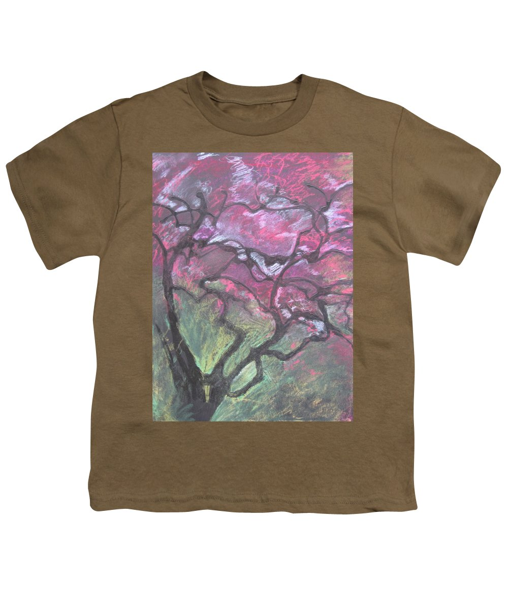 Pastel Youth T-Shirt featuring the drawing Twisted Cherry by Leah Tomaino