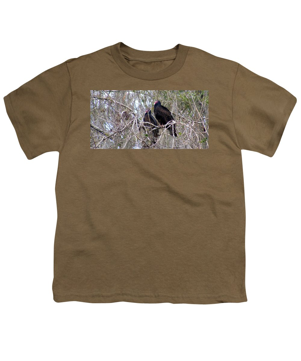 Birds Youth T-Shirt featuring the photograph Two Friends by Ed Smith