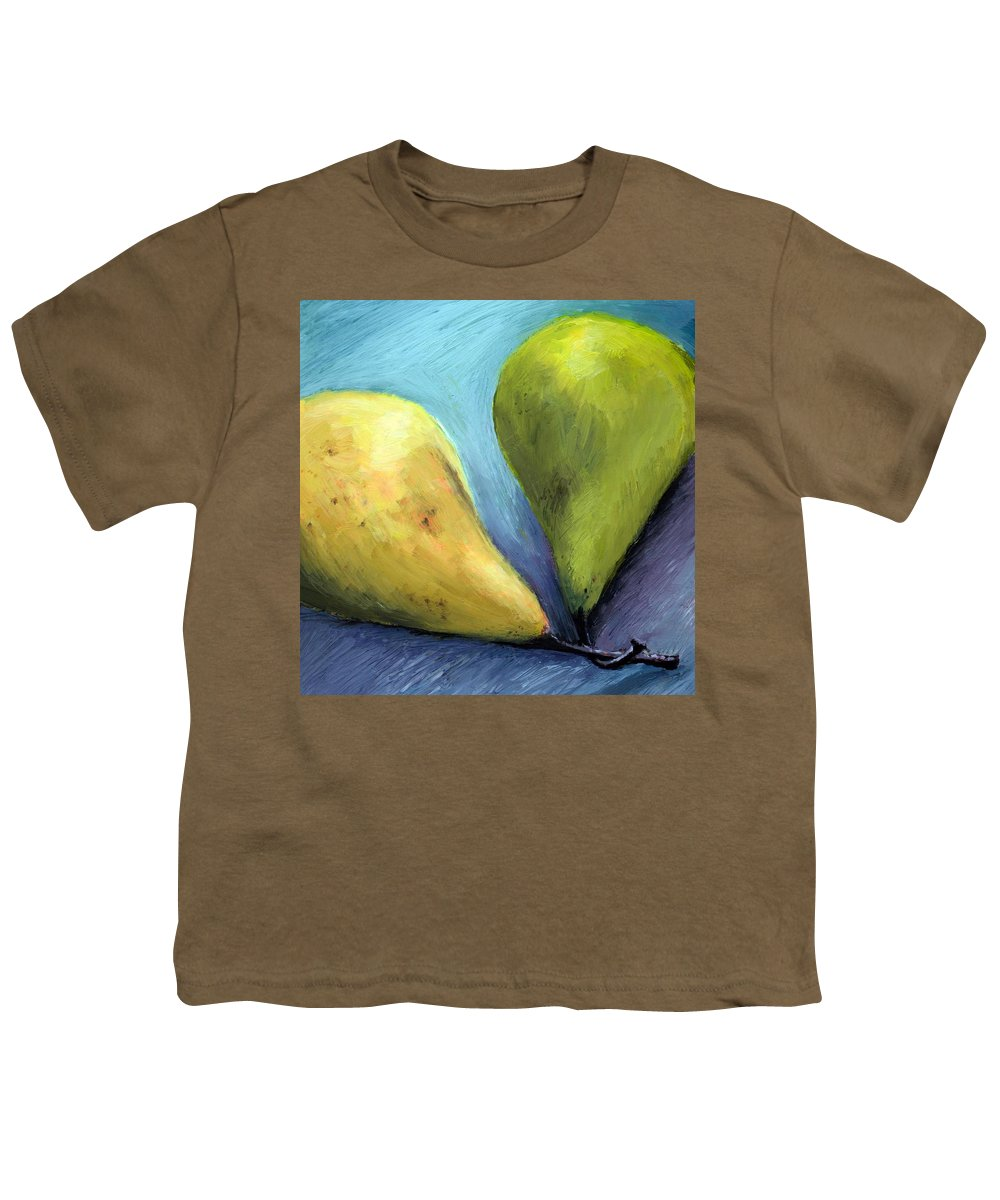 Pear Youth T-Shirt featuring the painting Two Pears Still Life by Michelle Calkins
