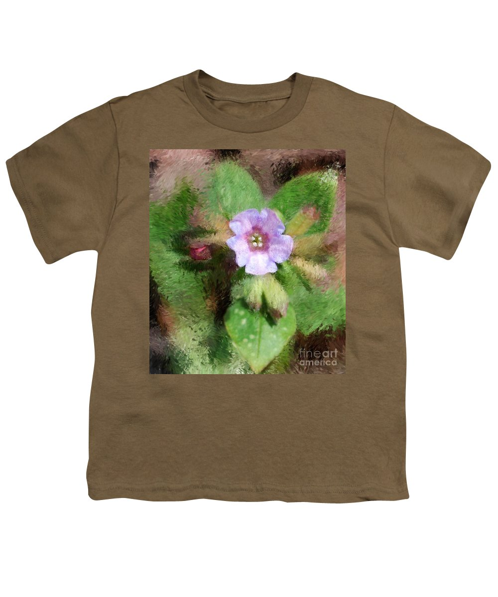 Digital Photo Youth T-Shirt featuring the photograph Untitled Floral -1 by David Lane