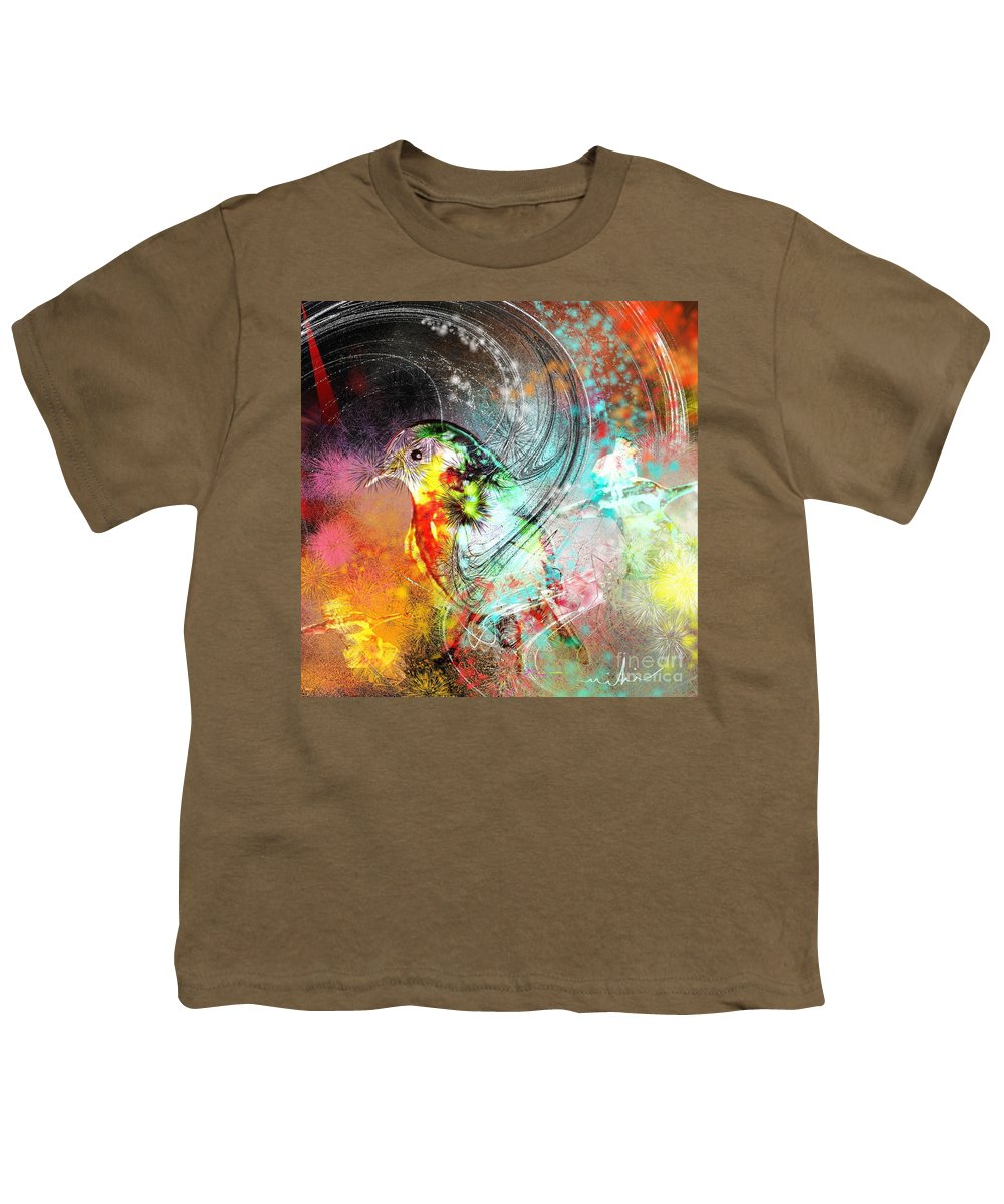 Bird Youth T-Shirt featuring the painting Vagabond by Miki De Goodaboom