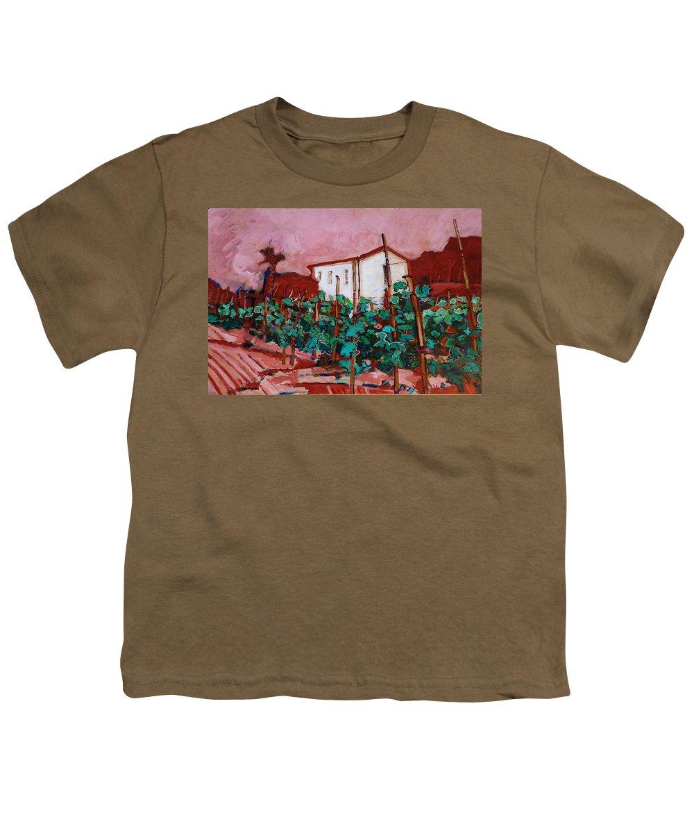 Tuscany Youth T-Shirt featuring the painting Vecchio Casa Di Pietro by Kurt Hausmann
