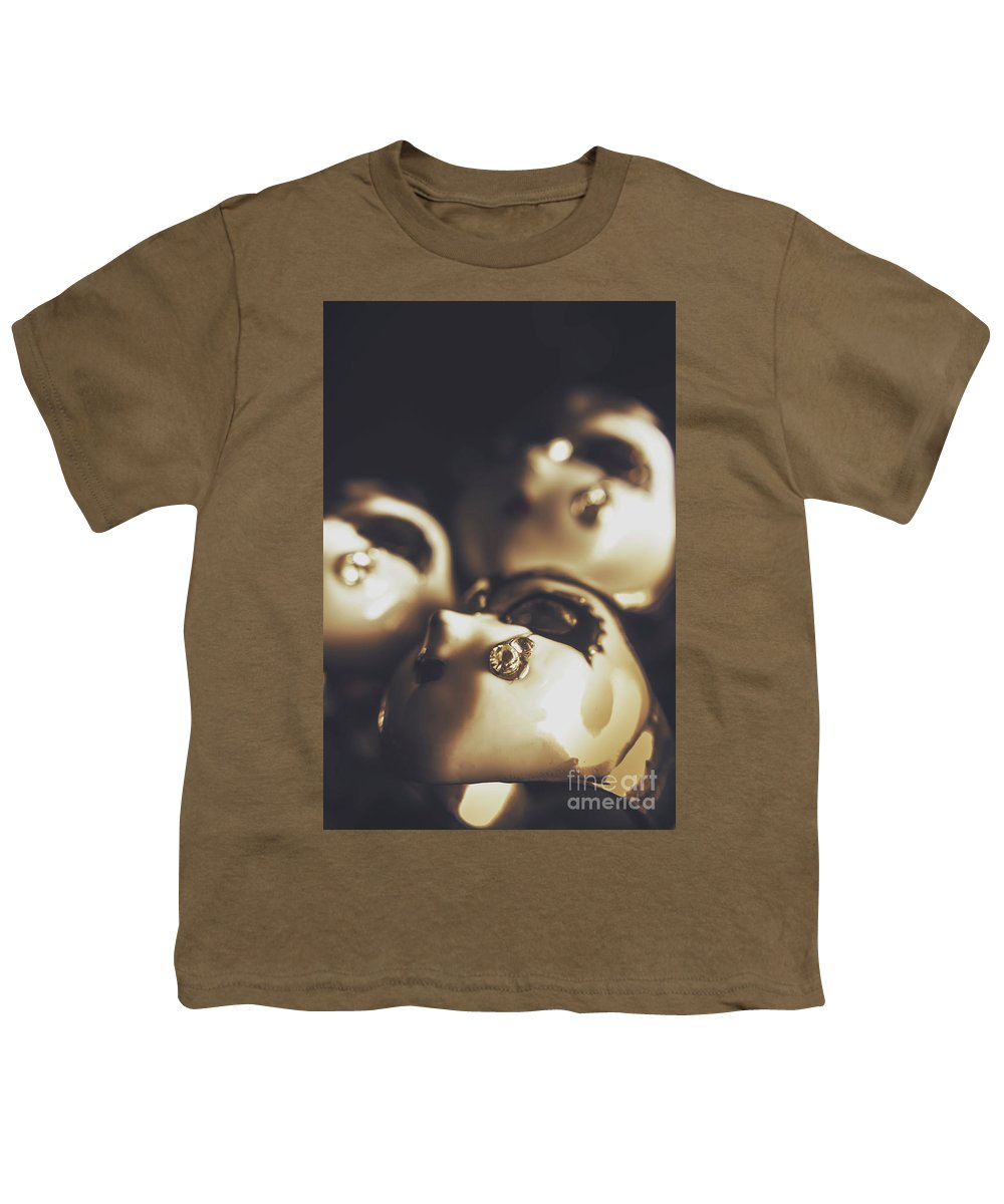 Opera Youth T-Shirt featuring the photograph Venetian Masquerade Mask Rings by Jorgo Photography - Wall Art Gallery