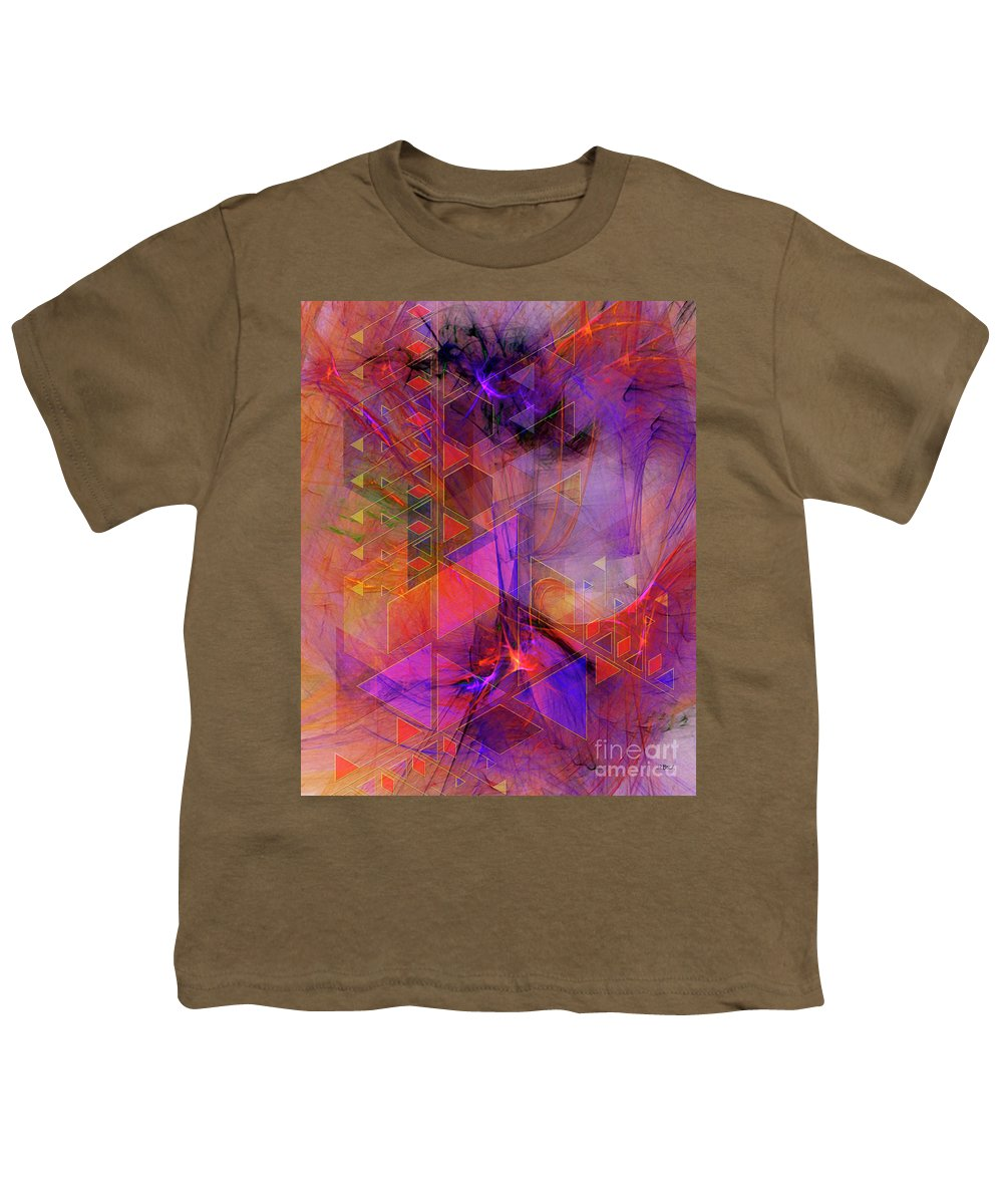 Vibrant Echoes Youth T-Shirt featuring the digital art Vibrant Echoes by John Beck