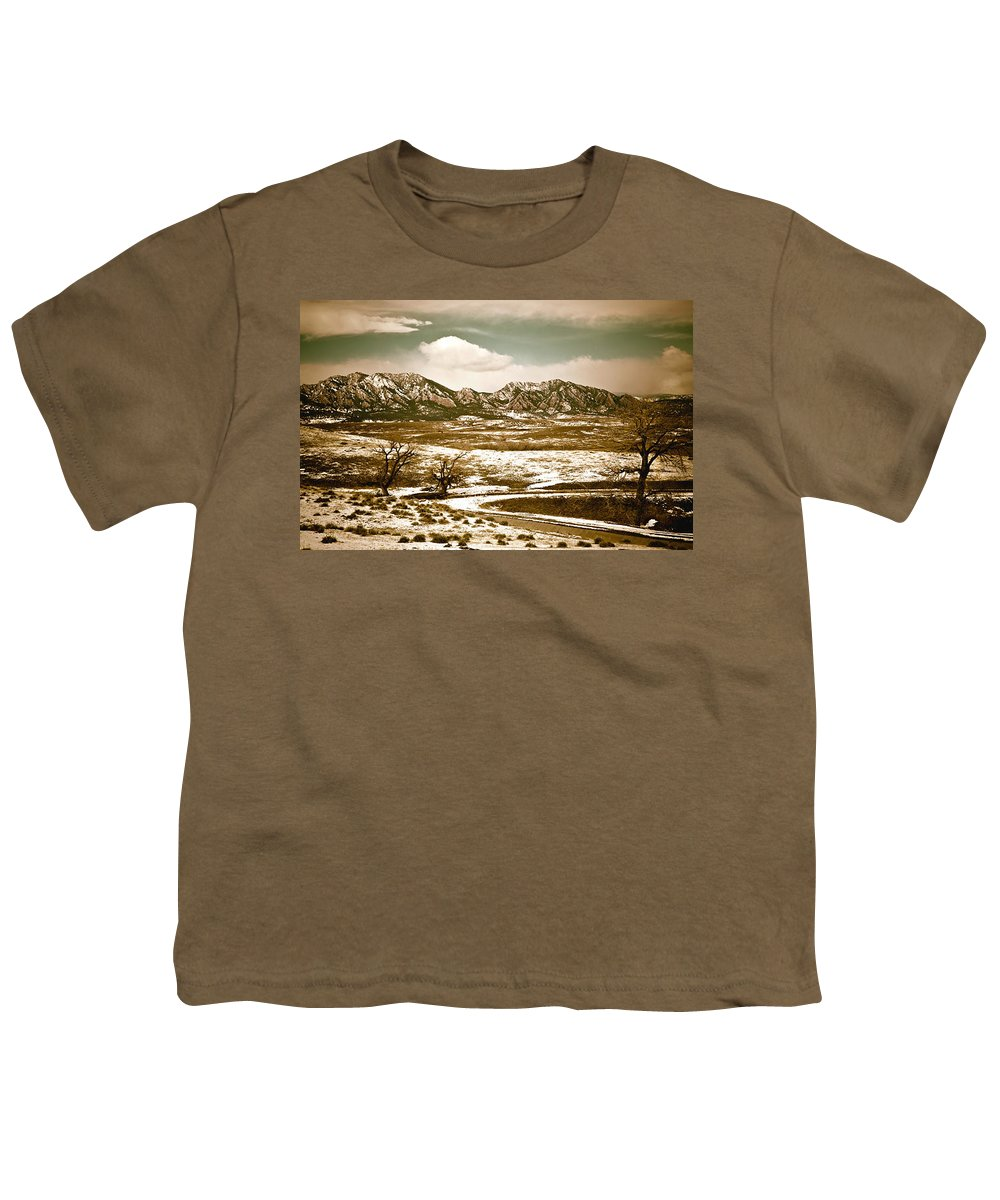 Landscape Youth T-Shirt featuring the photograph Flatironsview From Superior by Marilyn Hunt