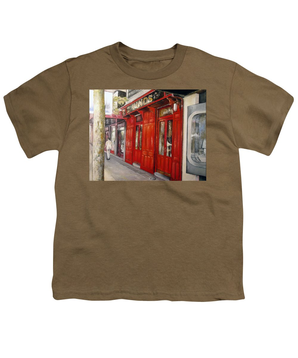 Urban Youth T-Shirt featuring the painting Vinos Sagasta by Tomas Castano