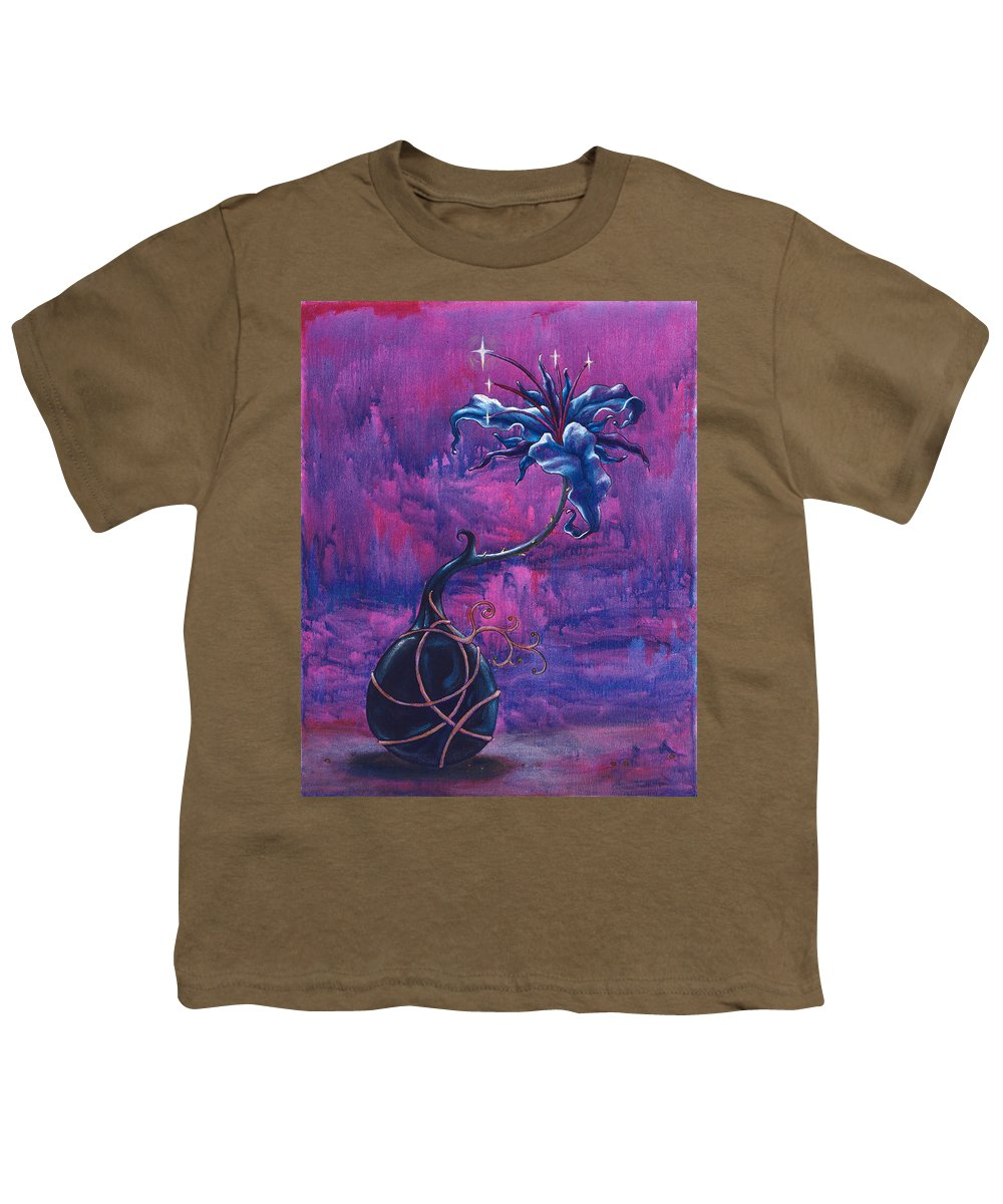 Lily Youth T-Shirt featuring the painting Waiting Flower by Jennifer McDuffie