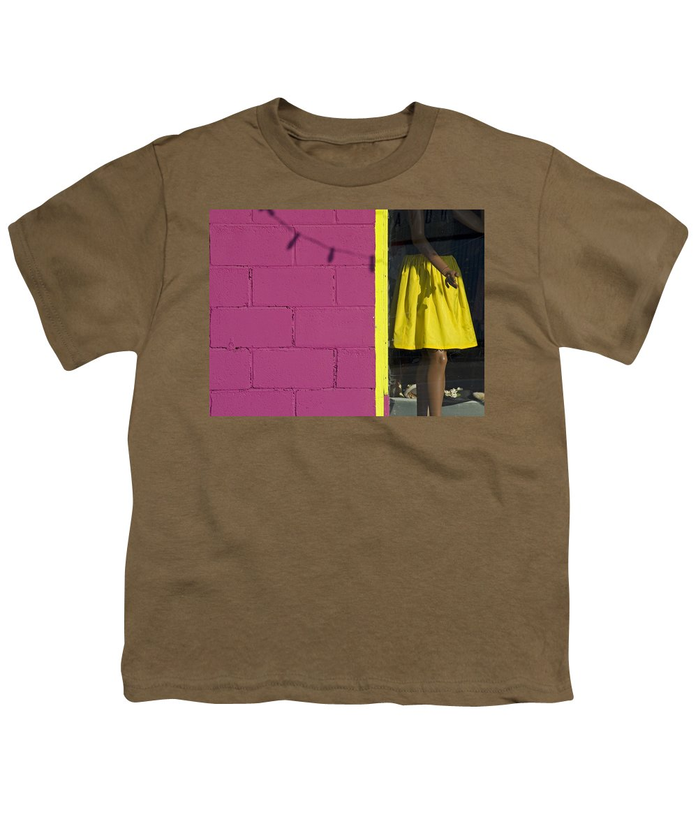 Woman Youth T-Shirt featuring the photograph Waiting by Skip Hunt
