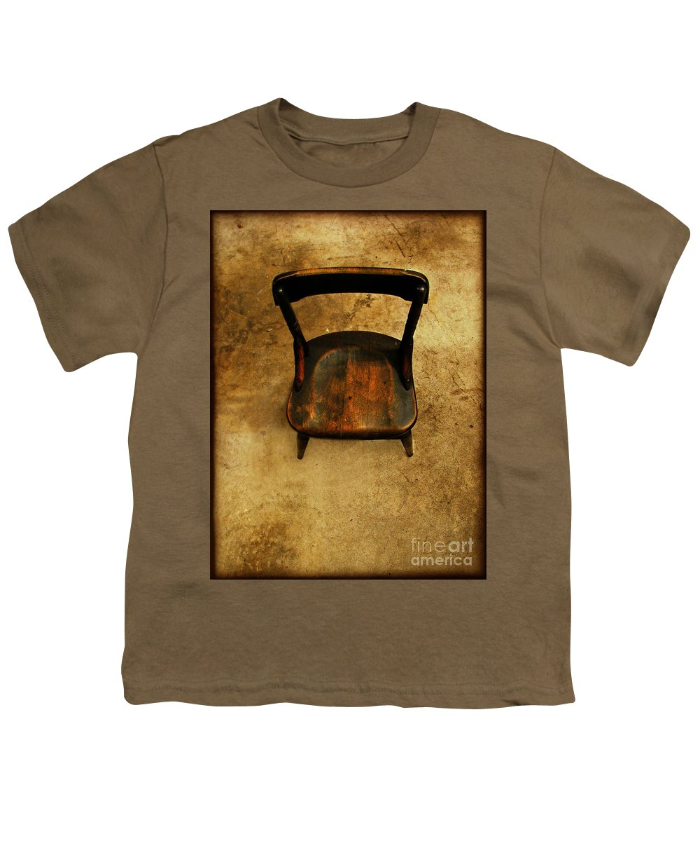 Alone Youth T-Shirt featuring the photograph Waiting To Say Goodbye by Dana DiPasquale