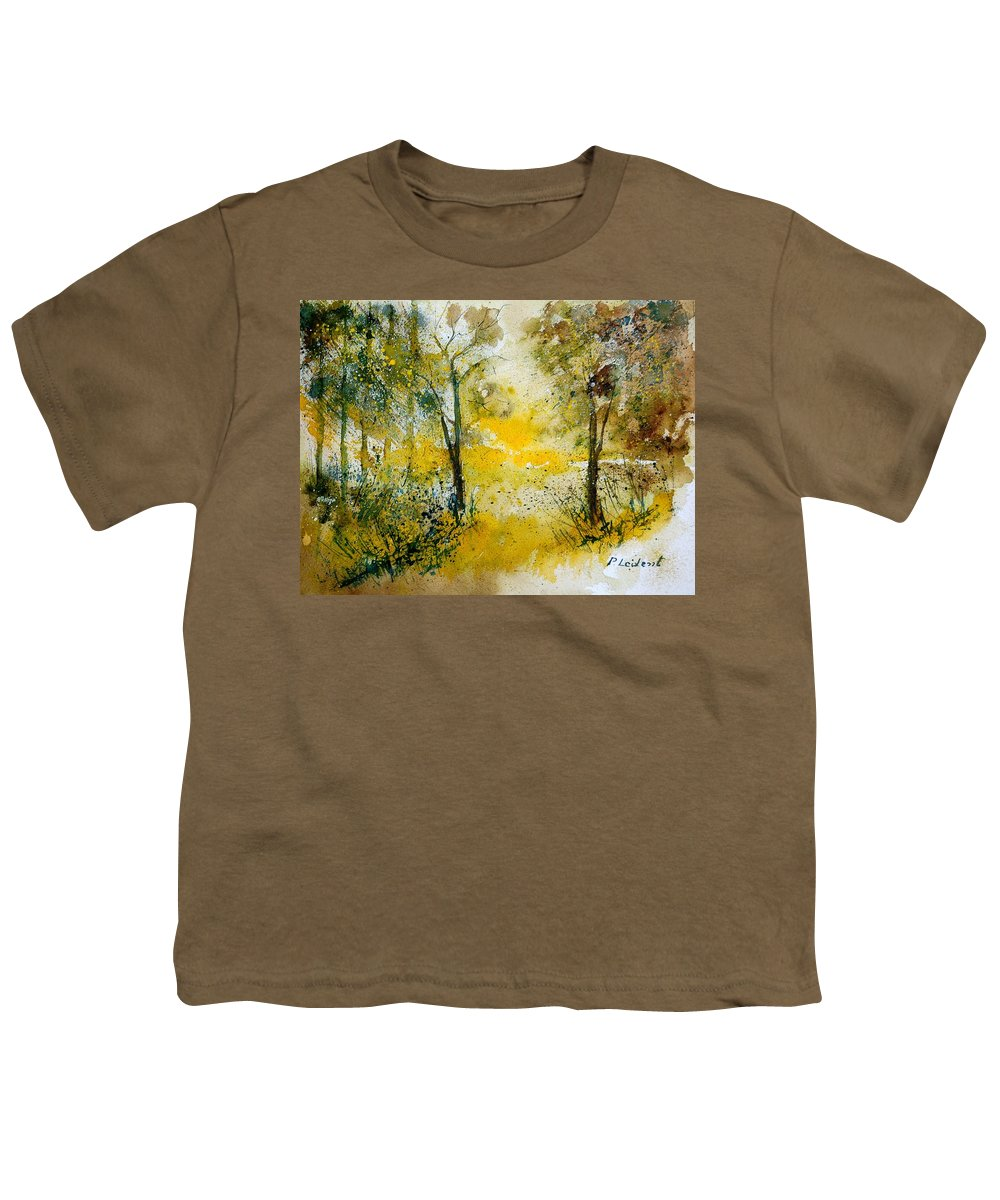 River Youth T-Shirt featuring the painting Watercolor 210108 by Pol Ledent