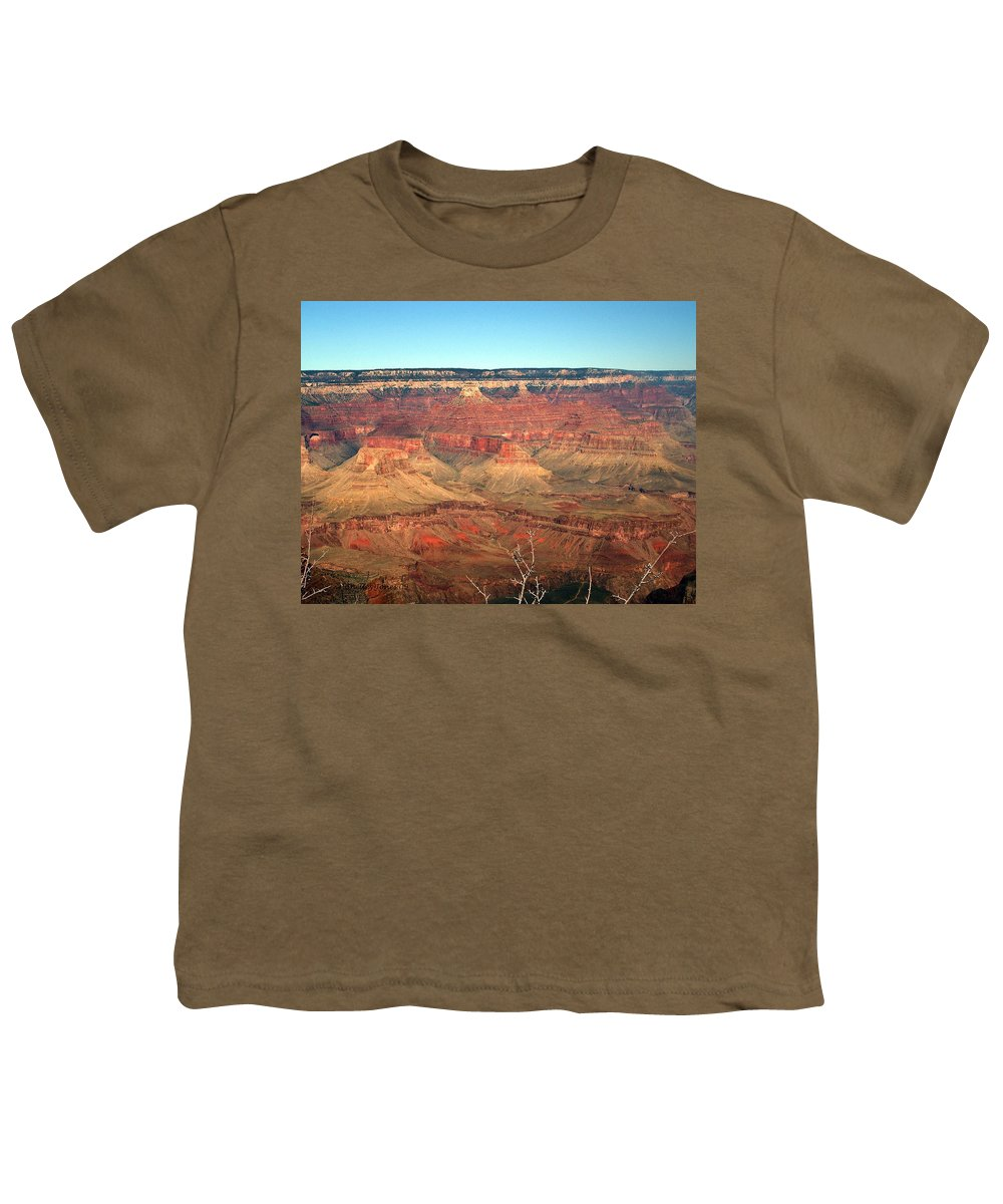 Grand Canyon Youth T-Shirt featuring the photograph Whata View by Shelley Jones