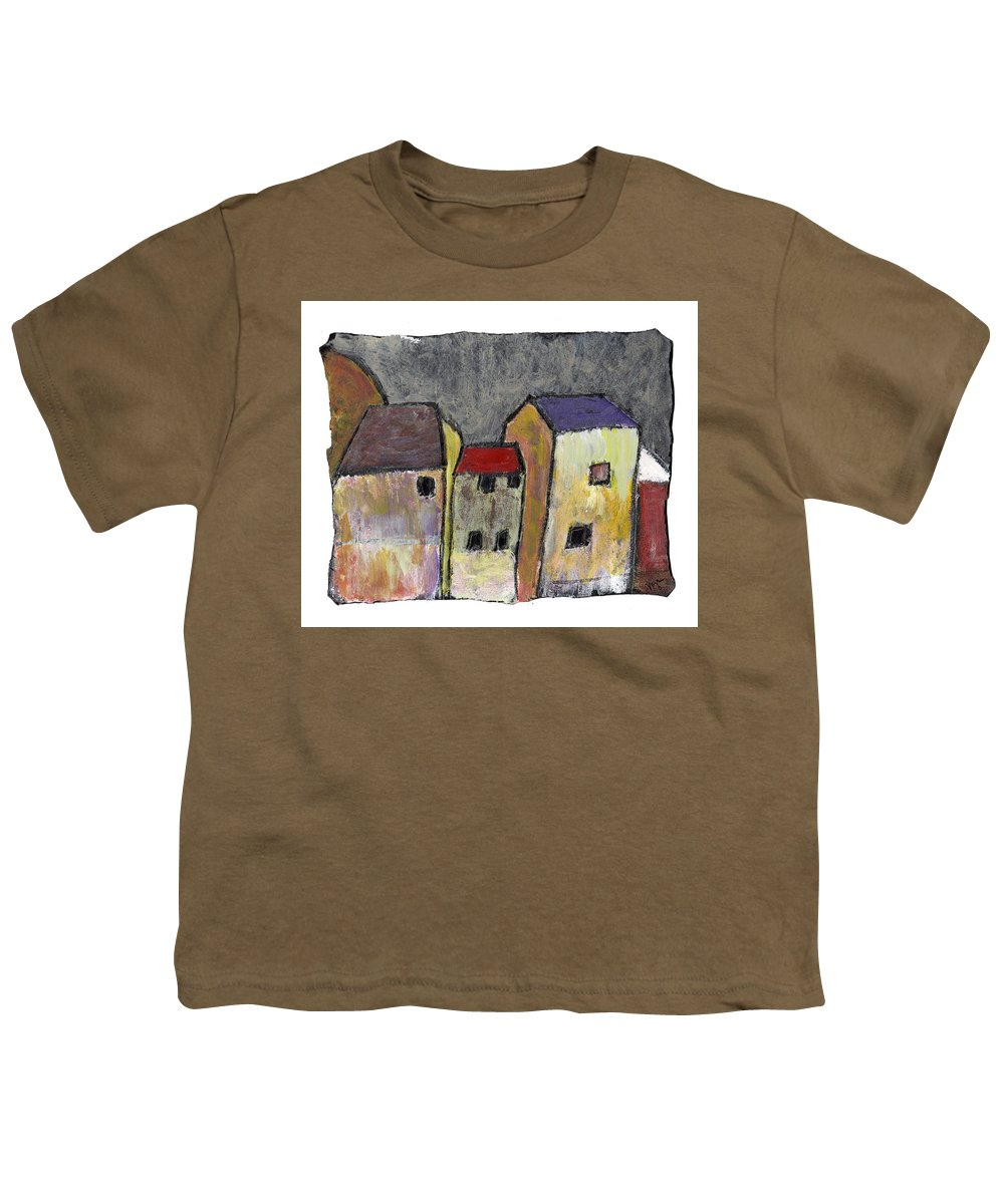 Buildings Youth T-Shirt featuring the painting Where Once There Was by Wayne Potrafka