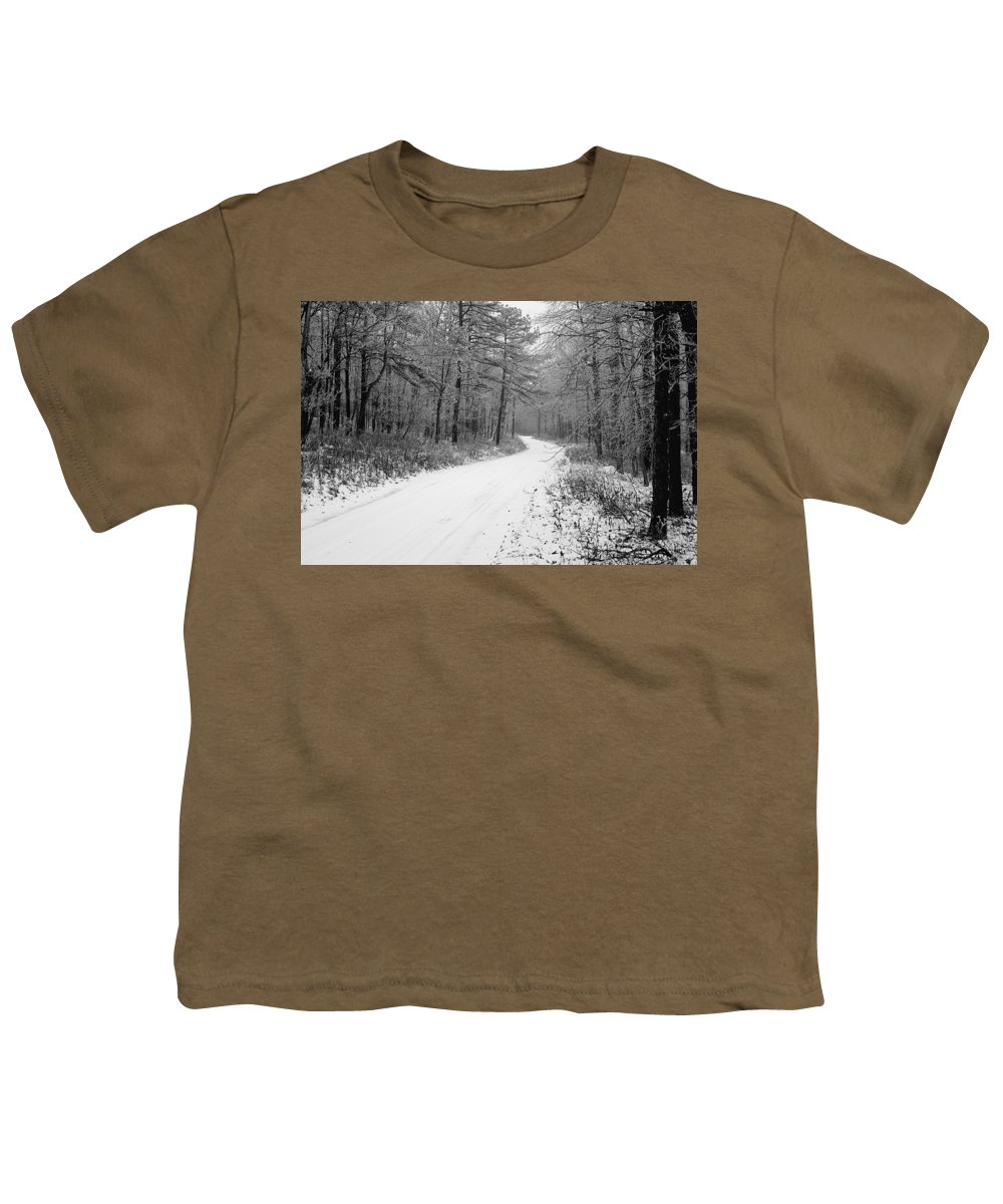 Winter Youth T-Shirt featuring the photograph Where Will It Lead by Jean Macaluso
