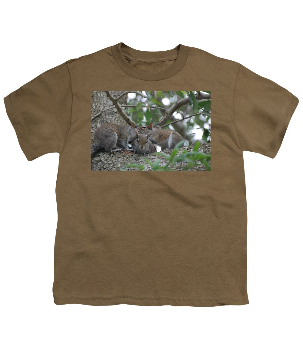 Squirrel Youth T-Shirt featuring the photograph Why Me by Rob Hans