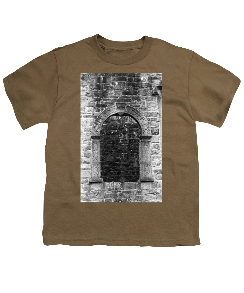 Irish Youth T-Shirt featuring the photograph Window At Donegal Castle Ireland by Teresa Mucha