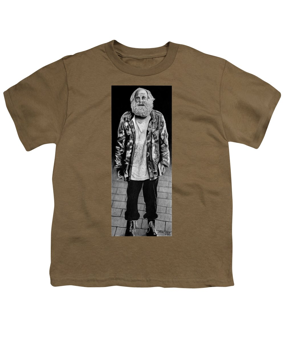 Wondering Soldier Youth T-Shirt featuring the drawing Wondering Soldier by Peter Piatt