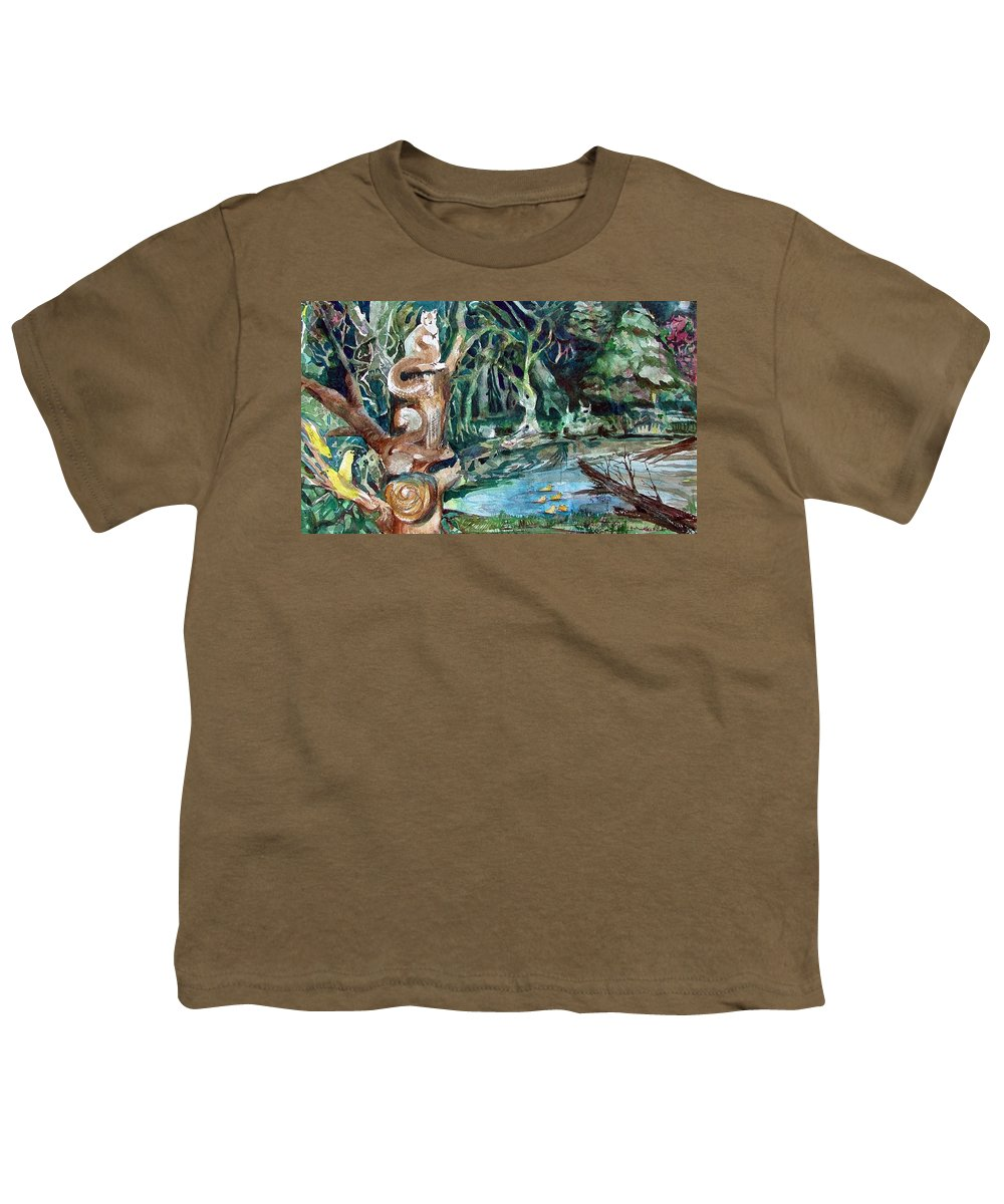 Squirrels Youth T-Shirt featuring the painting Woodland Critters by Mindy Newman