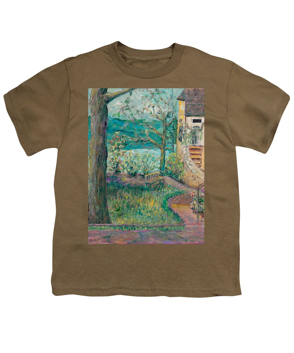 Big Cedar Lodge Youth T-Shirt featuring the painting Worman House At Big Cedar Lodge by Nadine Rippelmeyer