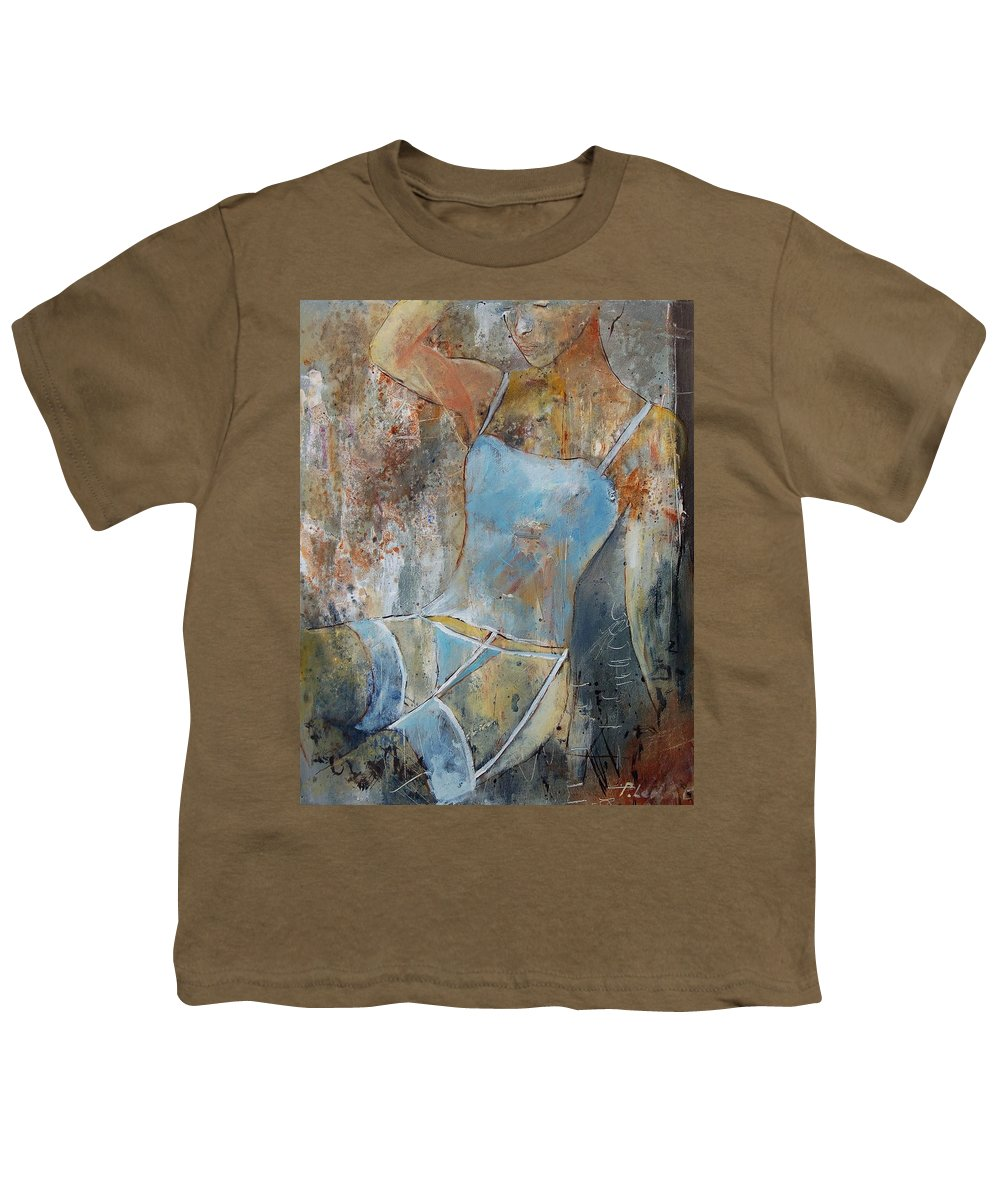 Nude Youth T-Shirt featuring the painting Young Girl 451108 by Pol Ledent