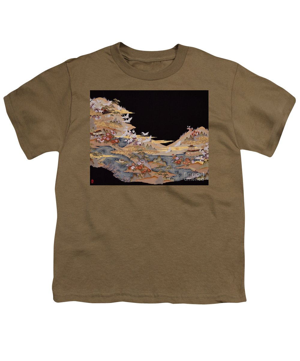 Youth T-Shirt featuring the digital art Spirit of Japan T88 by Miho Kanamori
