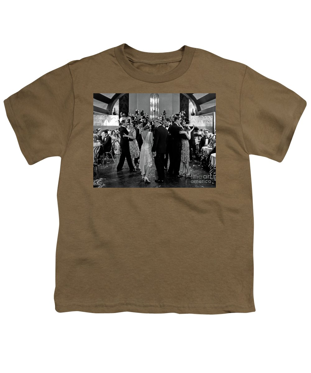 Aileen Pringle Youth T-Shirt featuring the photograph Aileen Pringle Lew Cody Adam and Evil 1927 by Sad Hill - Bizarre Los Angeles Archive