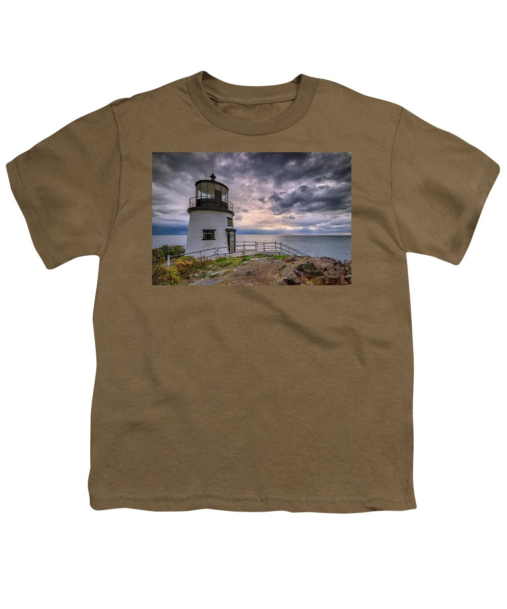 Owls Head Youth T-Shirt featuring the photograph Autumn Morning At Owls Head by Rick Berk