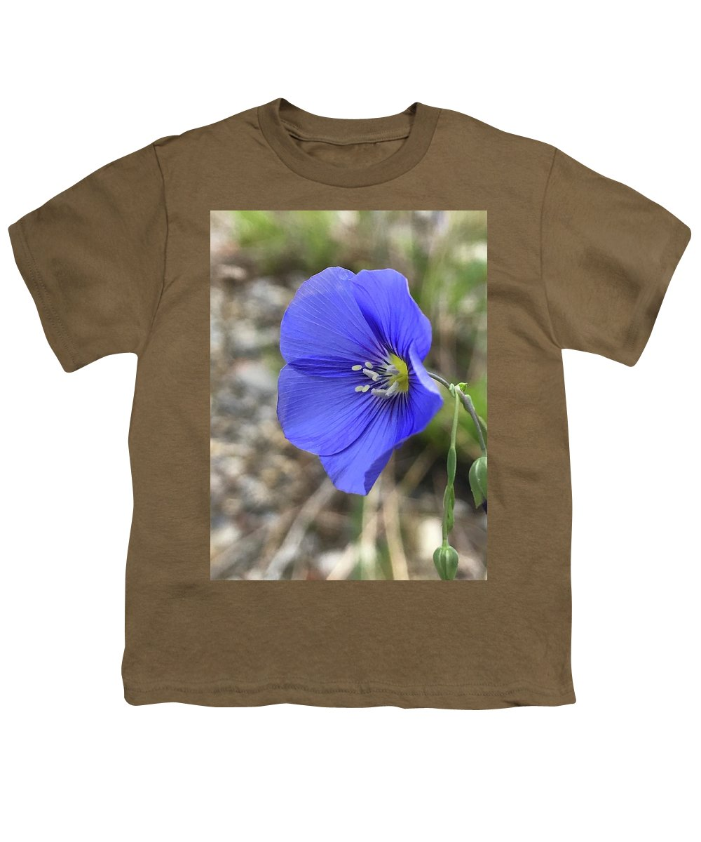 Blue Youth T-Shirt featuring the photograph Blue Flax by Norman Burnham