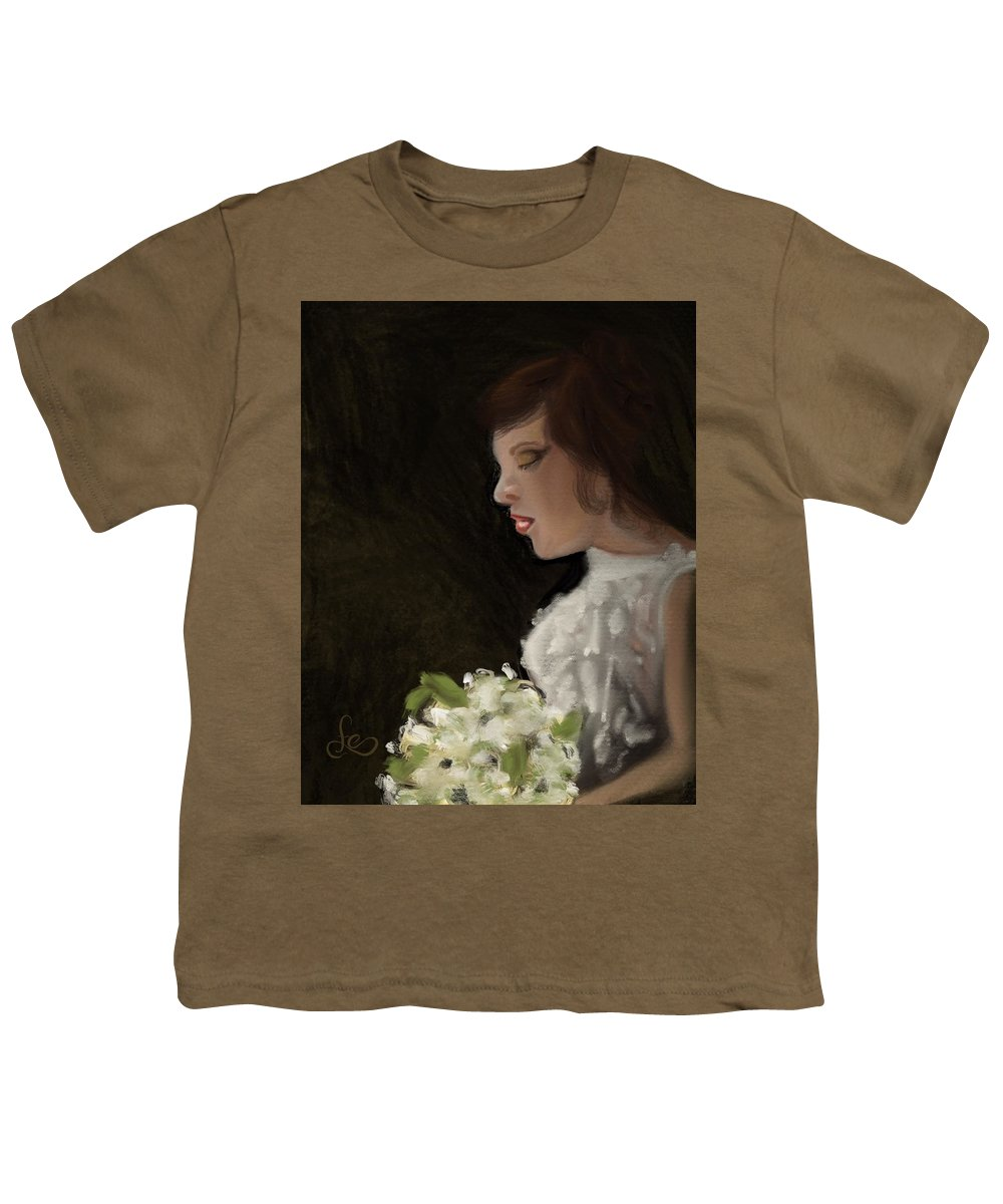 Youth T-Shirt featuring the painting Her Big Day by Fe Jones