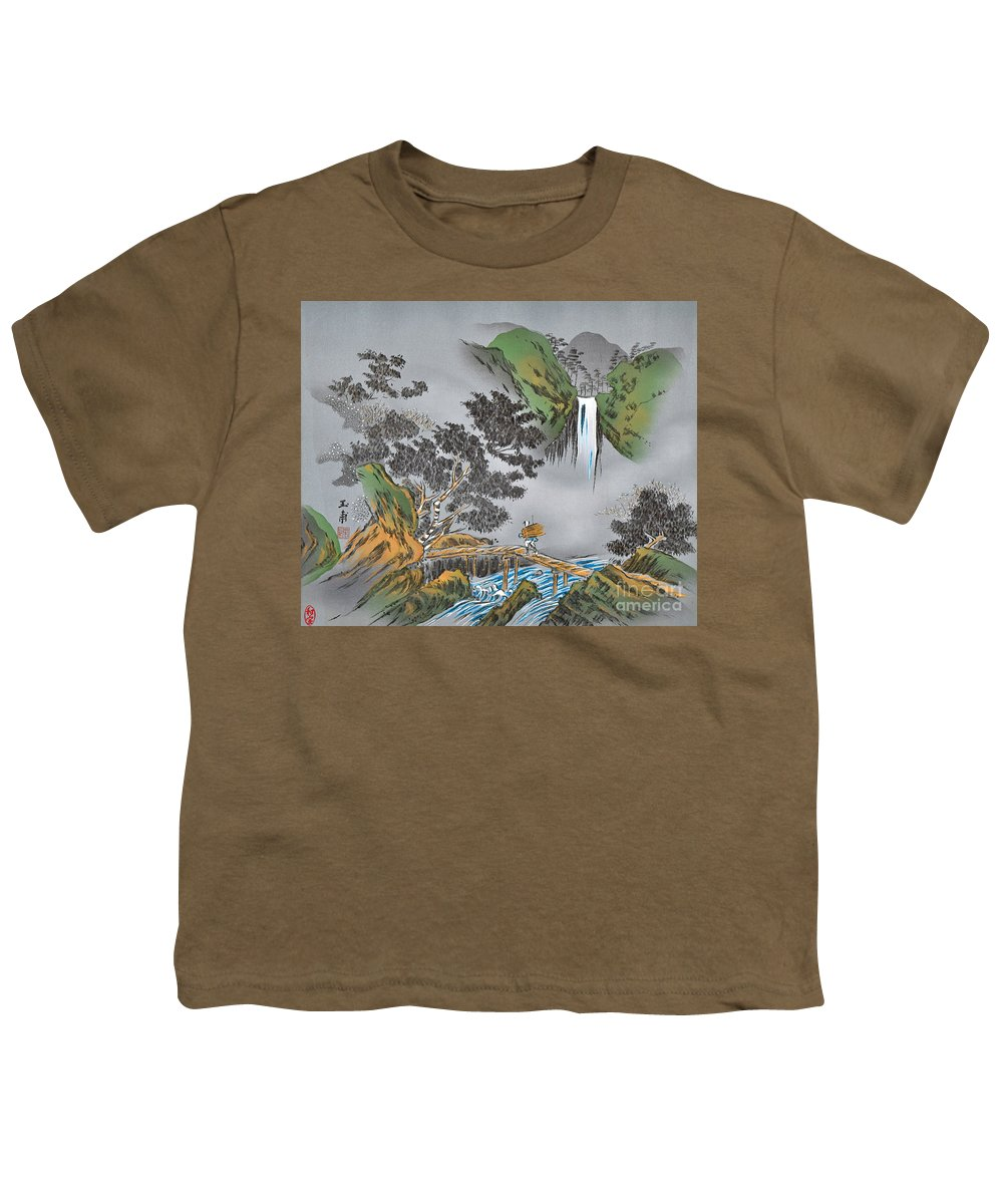 Youth T-Shirt featuring the digital art Spirit of Japan M7 by Miho Kanamori