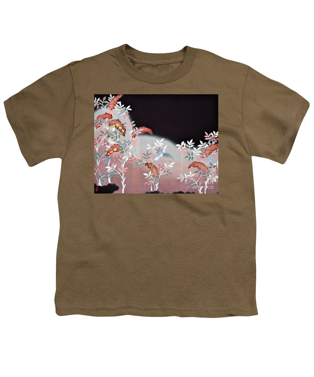 Youth T-Shirt featuring the digital art Spirit of Japan T47 by Miho Kanamori