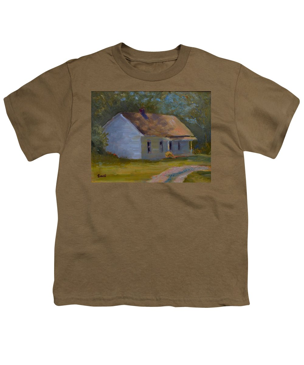 Kentucky Youth T-Shirt featuring the painting Tay's Cottage by Roger Snell