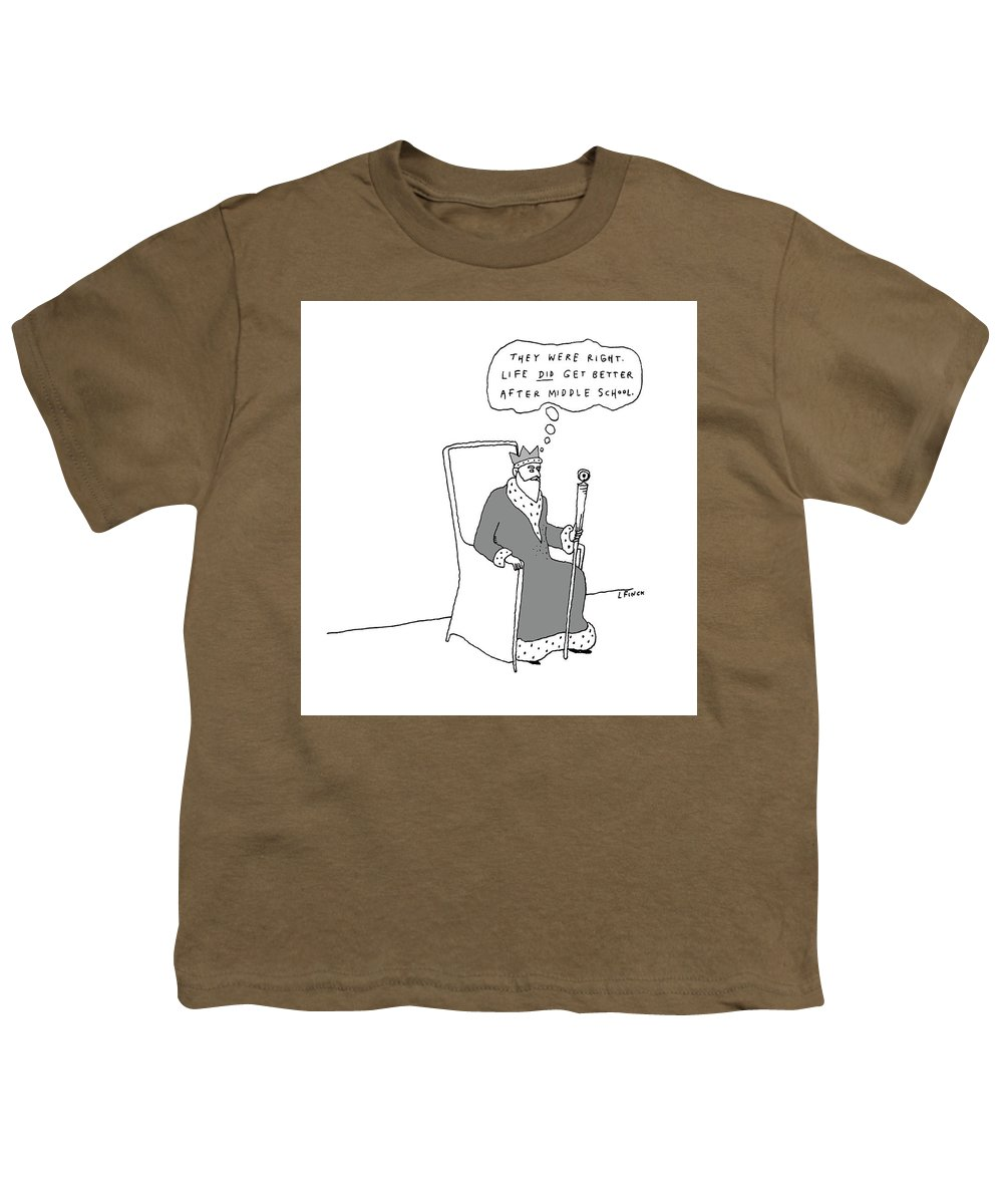 King Youth T-Shirt featuring the drawing They Were Right by Liana Finck