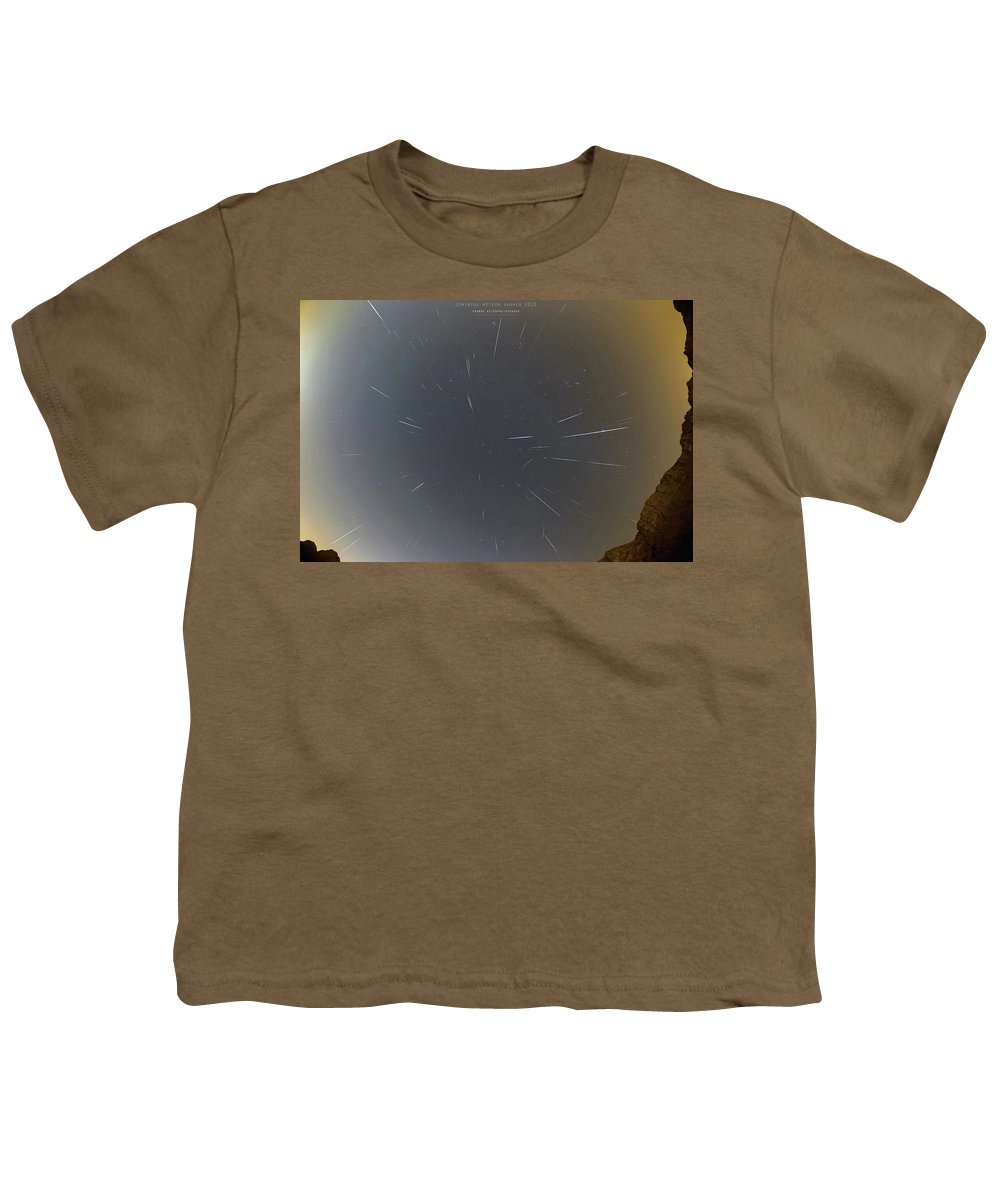 Youth T-Shirt featuring the photograph Geminids Meteor Shower 2020 by Prabhu Astrophotography