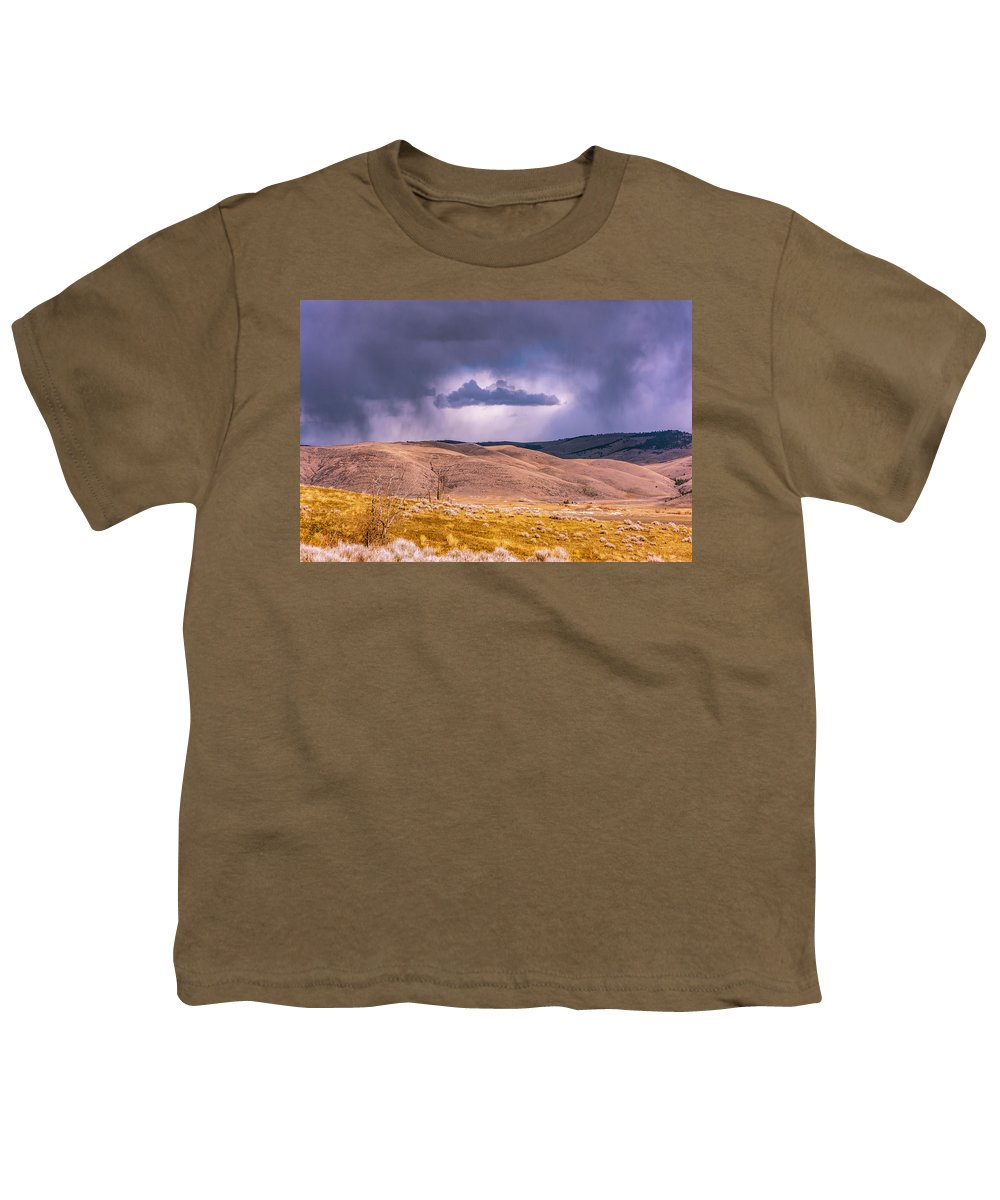 Little Bitterroot Valley Youth T-Shirt featuring the photograph Is That Cloud Holy? by Bryan Spellman