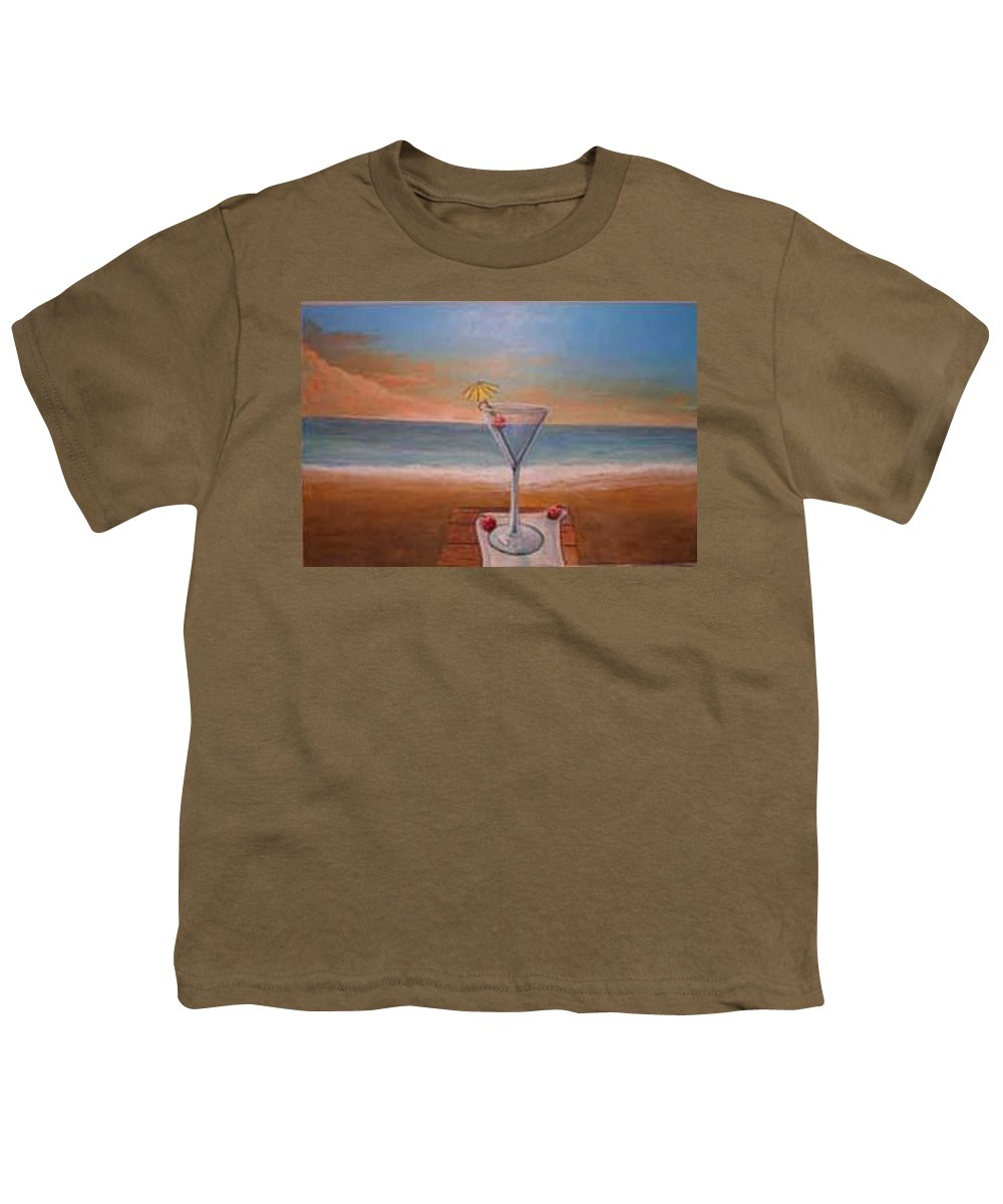 Rick Huotari Youth T-Shirt featuring the painting Martini In Door County by Rick Huotari