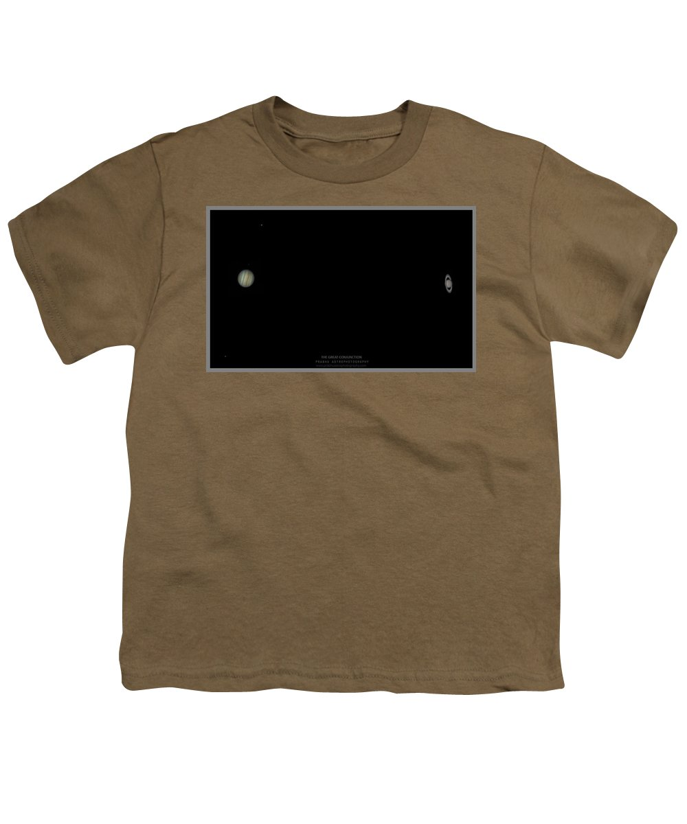 Youth T-Shirt featuring the photograph The Great Conjunction of Jupiter and Saturn by Prabhu Astrophotography