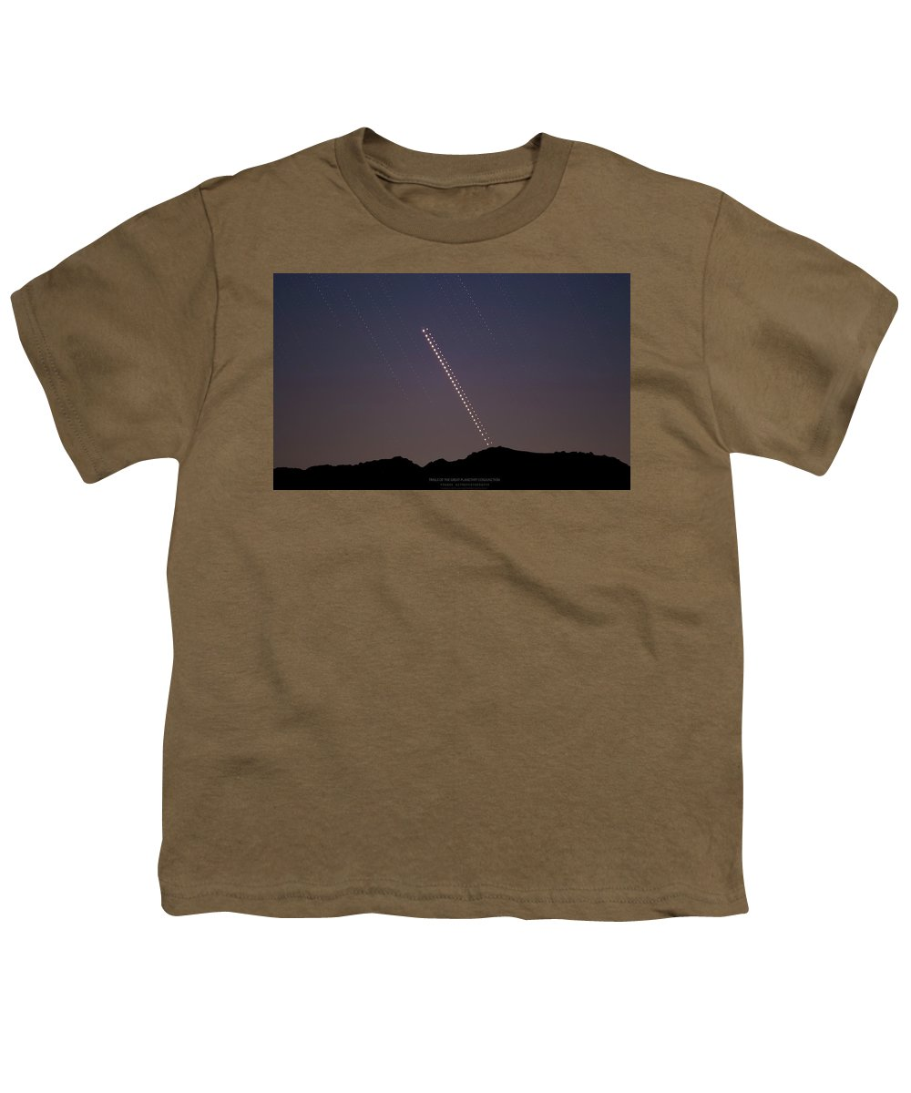 Youth T-Shirt featuring the photograph Trails of the Great Planetary Conjunction by Prabhu Astrophotography
