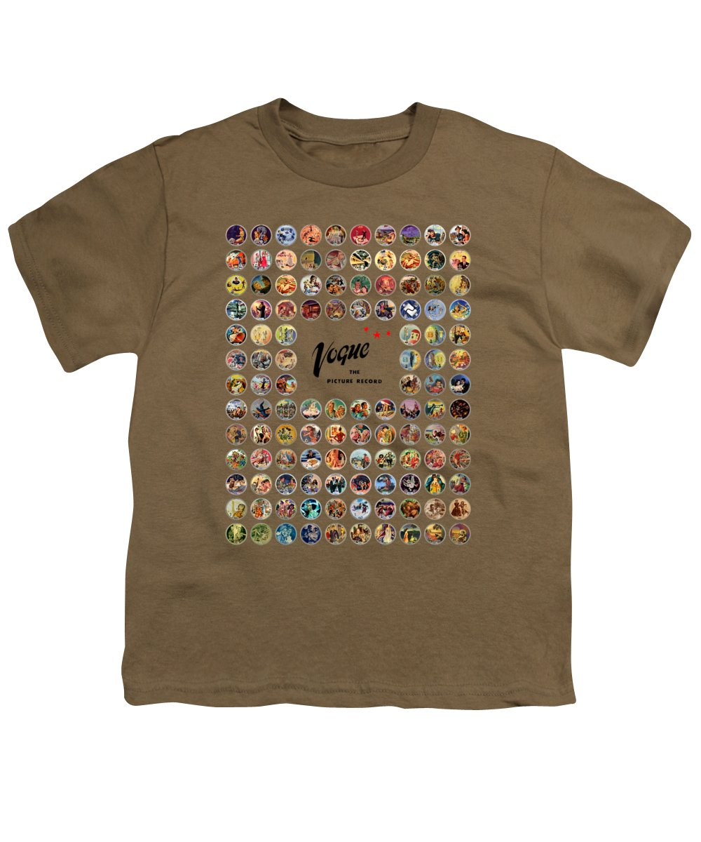 Vogue Picture Record Youth T-Shirt featuring the digital art Complete Vogue Picture Records by John Robert Beck