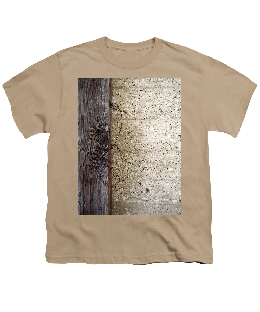 Industrial. Urban Youth T-Shirt featuring the photograph Abstract Concrete 11 by Anita Burgermeister