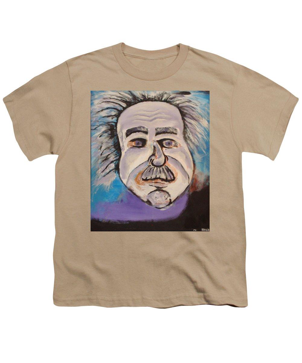 Rick Huotari Youth T-Shirt featuring the painting Einstein by Rick Huotari