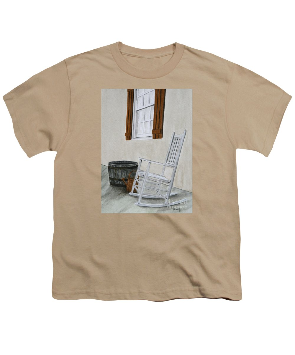 Americana Youth T-Shirt featuring the painting Lazy Day by Regan J Smith